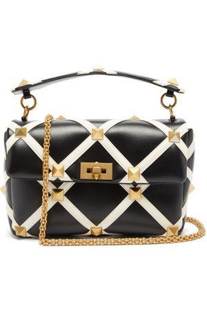 VALENTINO GARAVANI Roman Stud Leather Shoulder Bag - Womens
