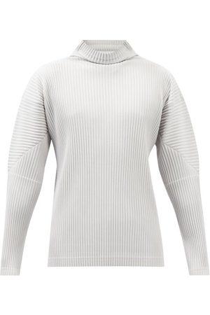 HOMME PLISSÉ ISSEY MIYAKE Men Turtlenecks - Roll-neck Pleated-jersey Long-sleeved Top - Mens