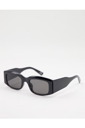 ASOS Mid square sunglasses with wide temple in