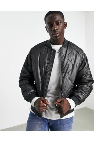 ASOS Onion quilted bomber jacket in