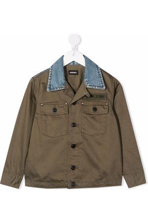 Diesel Chest logo-patch jacket