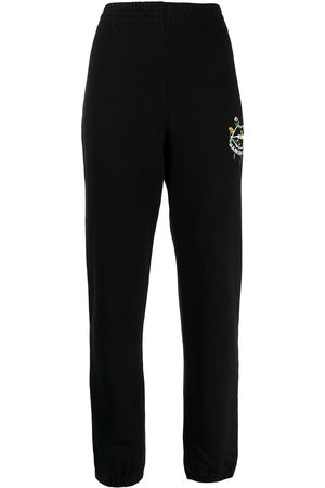Markus Lupfer Women Joggers - Embroidered logo joggers