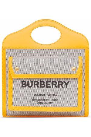 Burberry Women Tote Bags - Mini Pocket two-tone tote bag