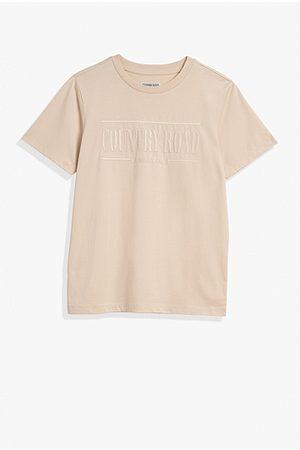 COUNTRY ROAD Teen Verified Australian Cotton Heritage T-Shirt - Light Sand