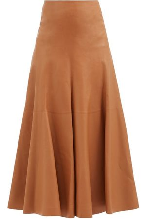 Chloé Women Leather Skirts - High-rise Leather A-line Skirt - Womens