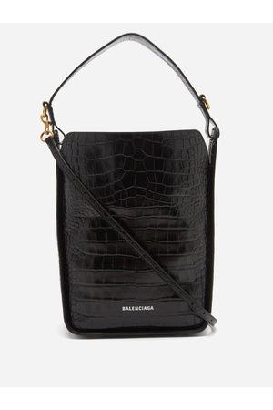 Balenciaga Tool S Crocodile-effect Leather Shoulder Bag - Womens