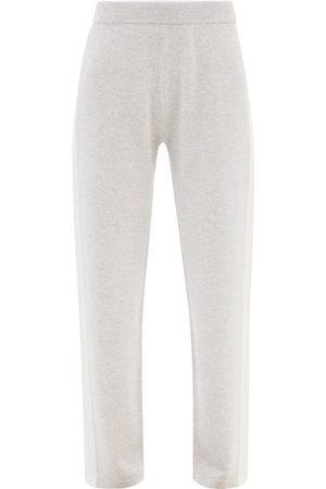 Falke Women Joggers - Side-stripe Wool-blend Track Pants - Womens - Light