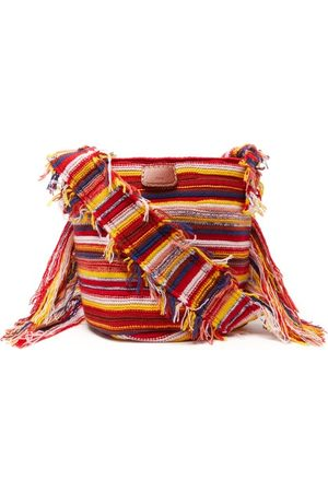 Chloé Women Shoulder Bags - Jorge Small Striped Recycled-cashmere Bucket Bag - Womens - Multi