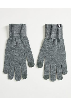 JACK & JONES Knitted touch screen gloves in grey