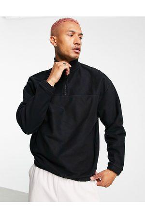 ASOS Co-ord oversized polar fleece sweatshirt with half zip in