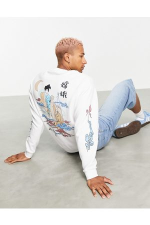 ASOS Men Sweatshirts - Oversized sweatshirt in with multi placement Chinese prints