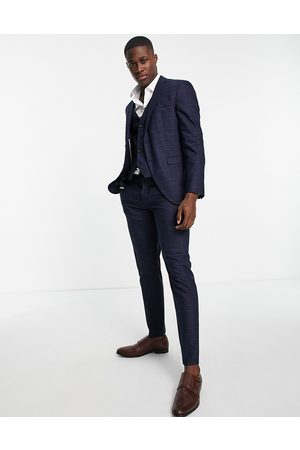 SELECTED Suit pants in slim fit blue check