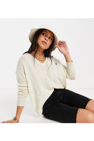 Polo Ralph Lauren X ASOS exclusive collab icon logo oversized v neck jumper in -White