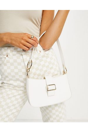 Glamorous Shoulder bag with front buckle detail and metal hardware in