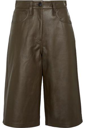 DRIES VAN NOTEN Women Bermudas - Leather Bermuda shorts