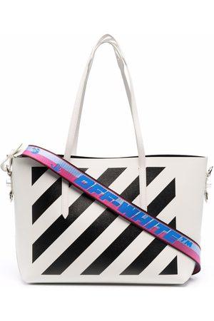 OFF-WHITE Women Tote Bags - Diag shopper tote bag