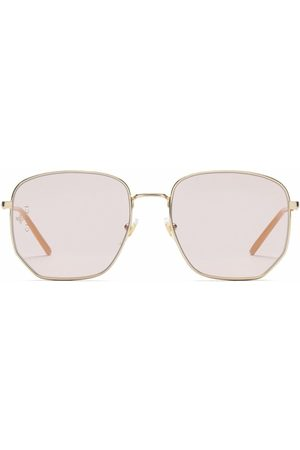 Gucci Round-frame tinted-lense sunglasses