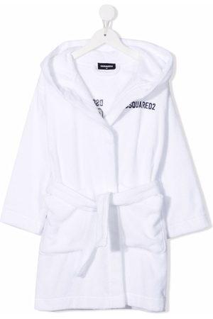 Dsquared2 Embroidered-Icon cotton robe