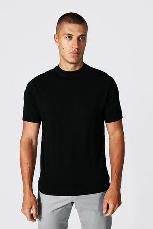 Boohoo Mens Recycled Short Sleeve roll/polo neck Jumper