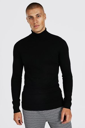 Boohooman Mens Recycled Muscle Roll Neck Jumper