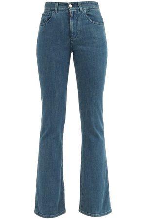 Chloé High-rise Flared-leg Jeans - Womens - Dark Denim