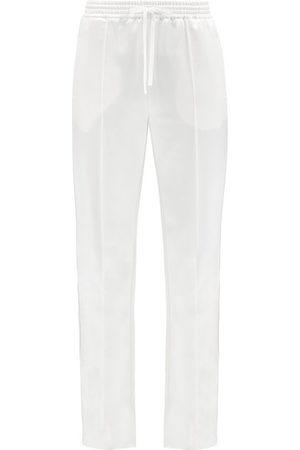 Chloé Drawstring Wool-blend Satin Trousers - Womens