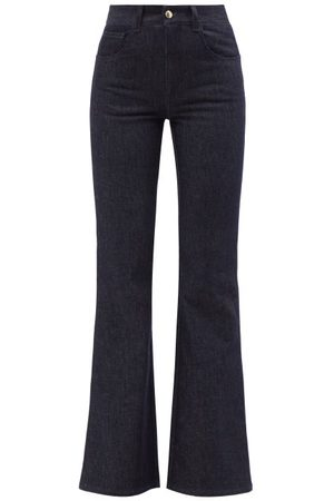 Chloé Women Boyfriend - High-rise Flared-leg Jeans - Womens - Denim