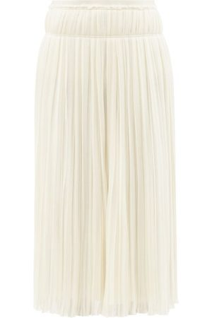 Chloé High-rise Pleated Wool Midi Skirt - Womens