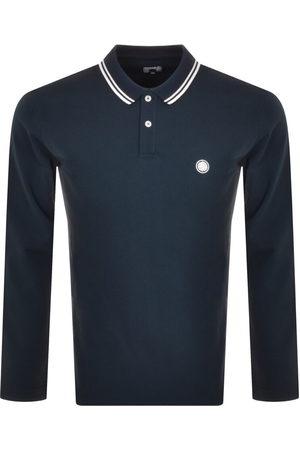 Pretty Green Men Long Sleeve - Barton Long Sleeve Polo T Shirt