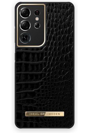 IDEAL OF SWEDEN Phone Cases - Atelier Case Galaxy S21U Neo Noir Croco