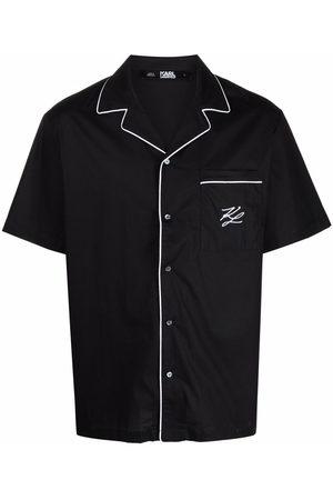 Karl Lagerfeld Embroidered logo pyjama shirt