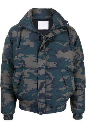 Ports V Winter Jackets - Heart Earth camouflage padded jacket