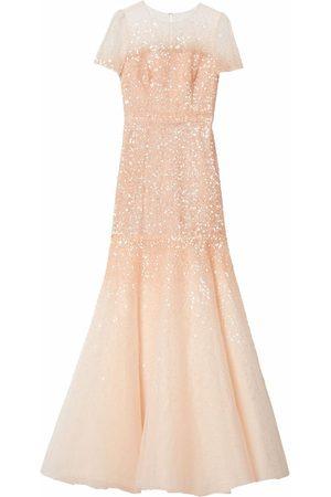Carolina Herrera Women Evening Dresses - Sequin-embroidered trumpet gown