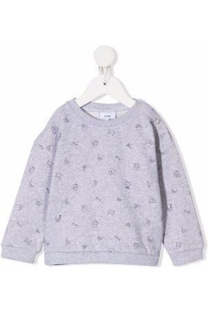 KNOT Sweatshirts - Terry Myna Bird-print sweatshirt