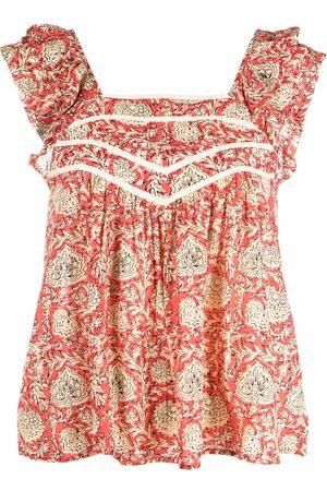 Bash Women Blouses - Floral-print empire-line blouse