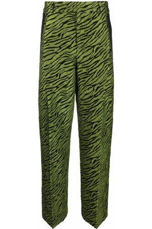 A BETTER MISTAKE Wide Leg Pants - Zebra-print wide-leg trousers