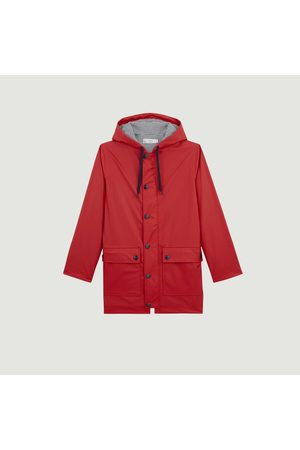 Petit Bateau Iconic hooded raincoat Rouge terkuit