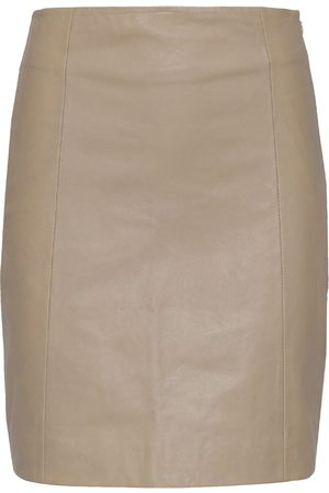 2nd Day Women Leather Skirts - ELECTRA LEATHER SKIRT IN KELP