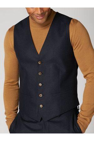 Remus Men Waistcoats - Leo Navy Textured Waistcoat