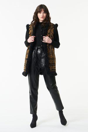 Antik Batik AW21 Huga Long Fur Vest and Gold