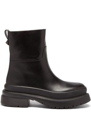 VALENTINO GARAVANI Roman Stud Leather Boots - Mens