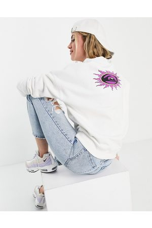 Quiksilver Sweatshirt with logo graphics in white