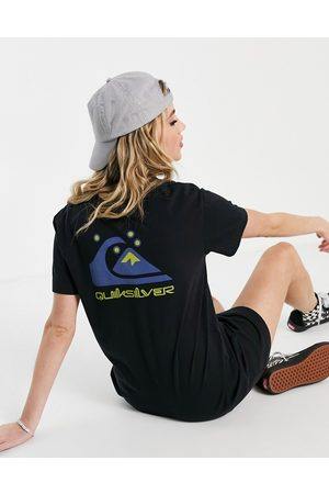 Quiksilver T-shirt dress with logo print in