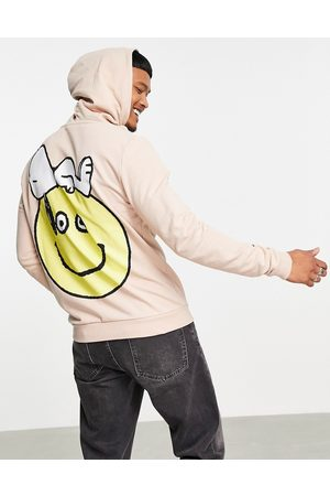 ASOS Oversized hoodie with Snoopy Peanuts back print in -Neutral