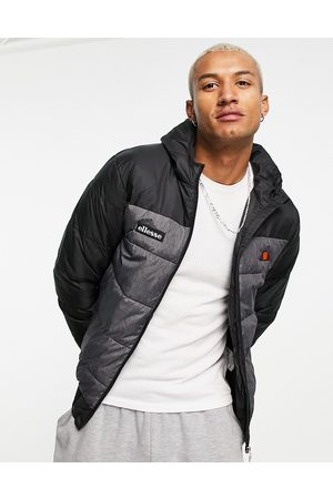 Ellesse Blocked puffer jacket in and grey