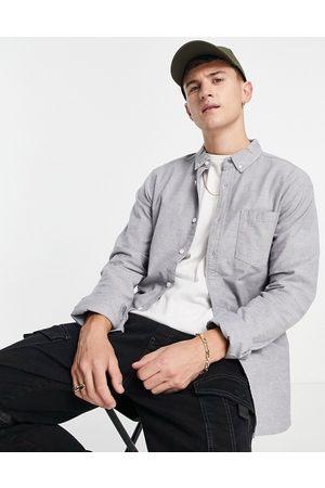 ASOS Slim fit oxford shirt in -Grey