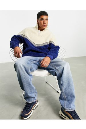 ASOS Oversized teddy borg sweatshirt with chevron detail