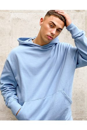 ASOS Organic co-ord oversized heavyweight hoodie in blue