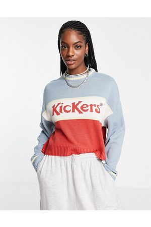 Kickers Relaxed jumper in vintage colour block knit
