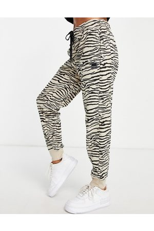DKNY Sport tiger print trackies in -White